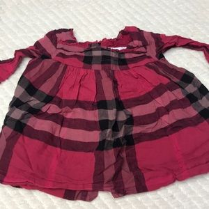 Burberry baby dress 3 months